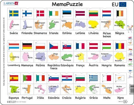 GP2 - MemoPuzzle: Navn, flagg og hovedsteder til 27 EU-land