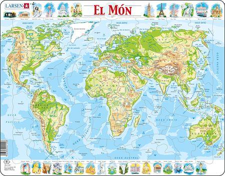 K4 - Verdenskart, topografisk kart