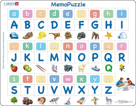 GP426 - MemoPuzzle: Alfabetet med 26 store og små bokstaver