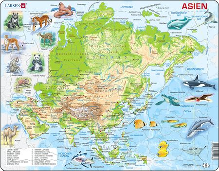 A30 - Asia Physical Map