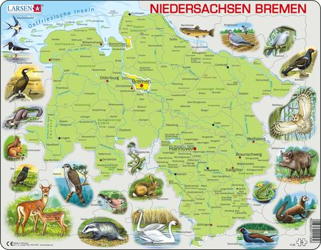 K88 - Niedersachsen and Bremen physical map
