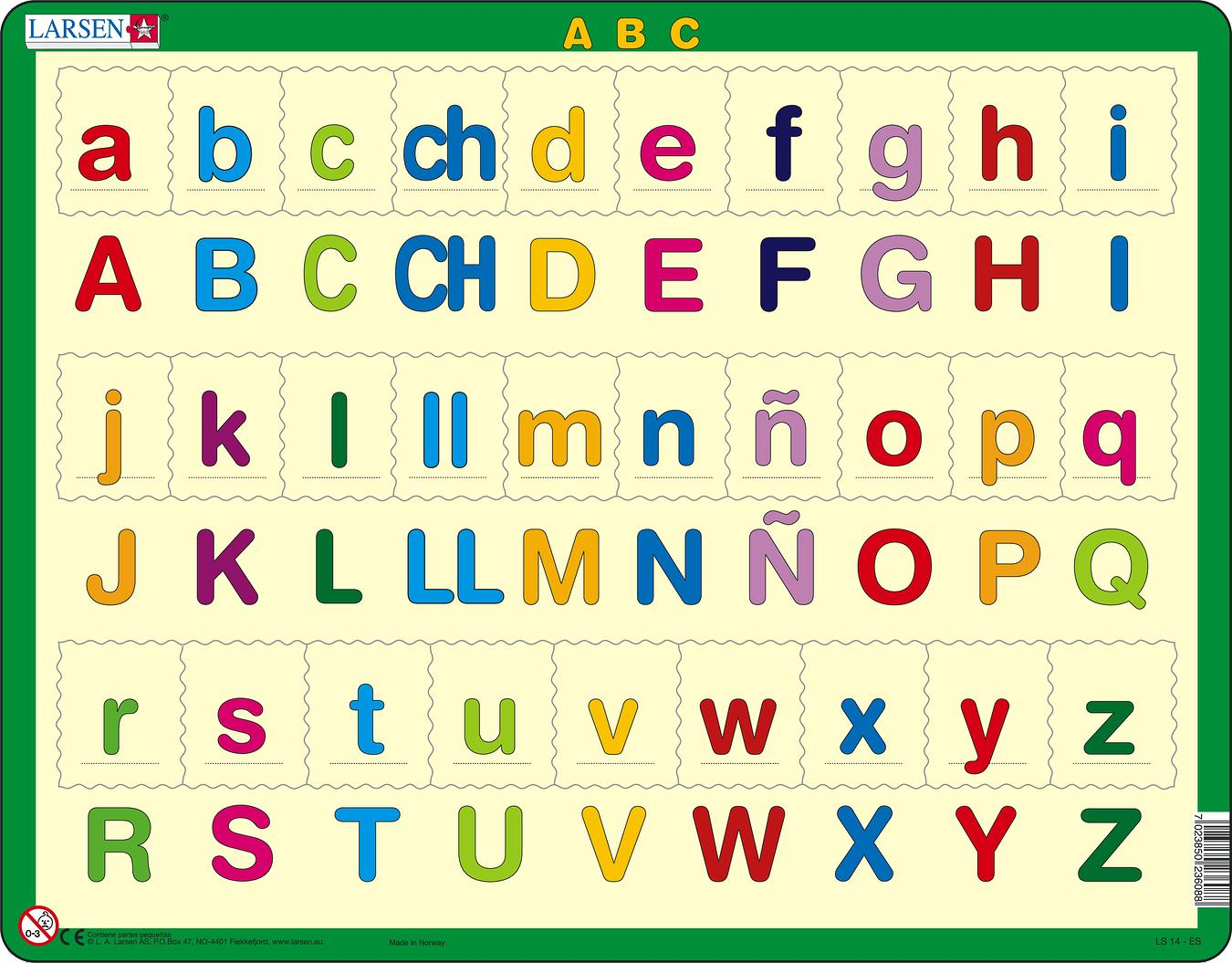 LS1429 - ABC-abc :: Reading :: Puzzles :: Larsen Puzzles