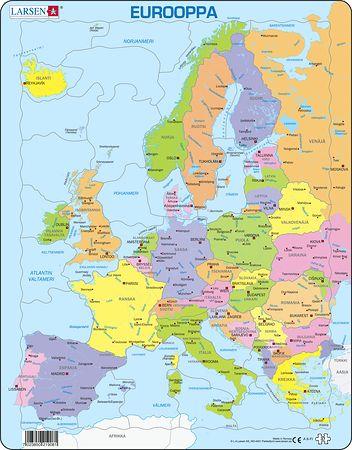 A8 - Europa, politisk kart for yngre barn