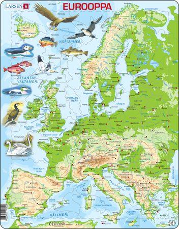 K70 - Europa, topografisk kart