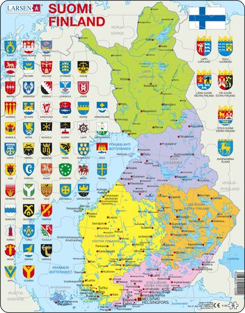 K99 - Finland, politisk kart