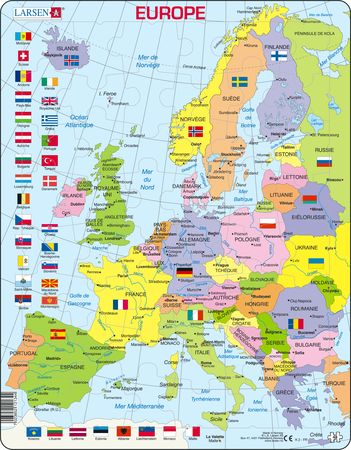 K2 - Europe Political Map