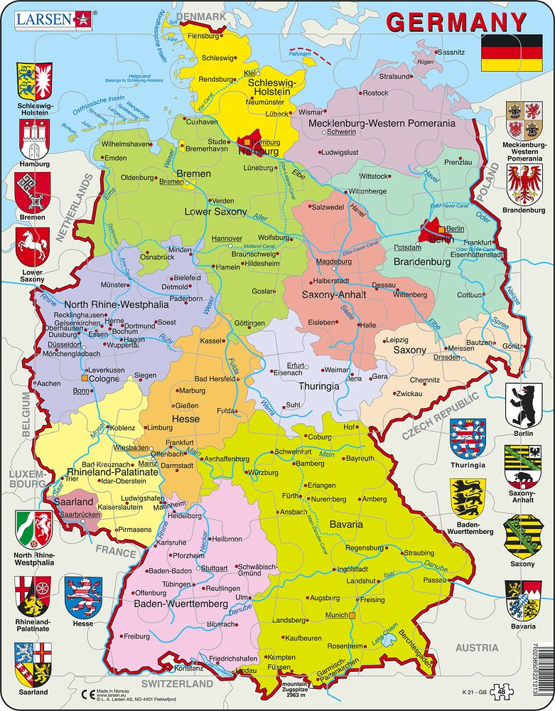 Germany Map English Map Of ...