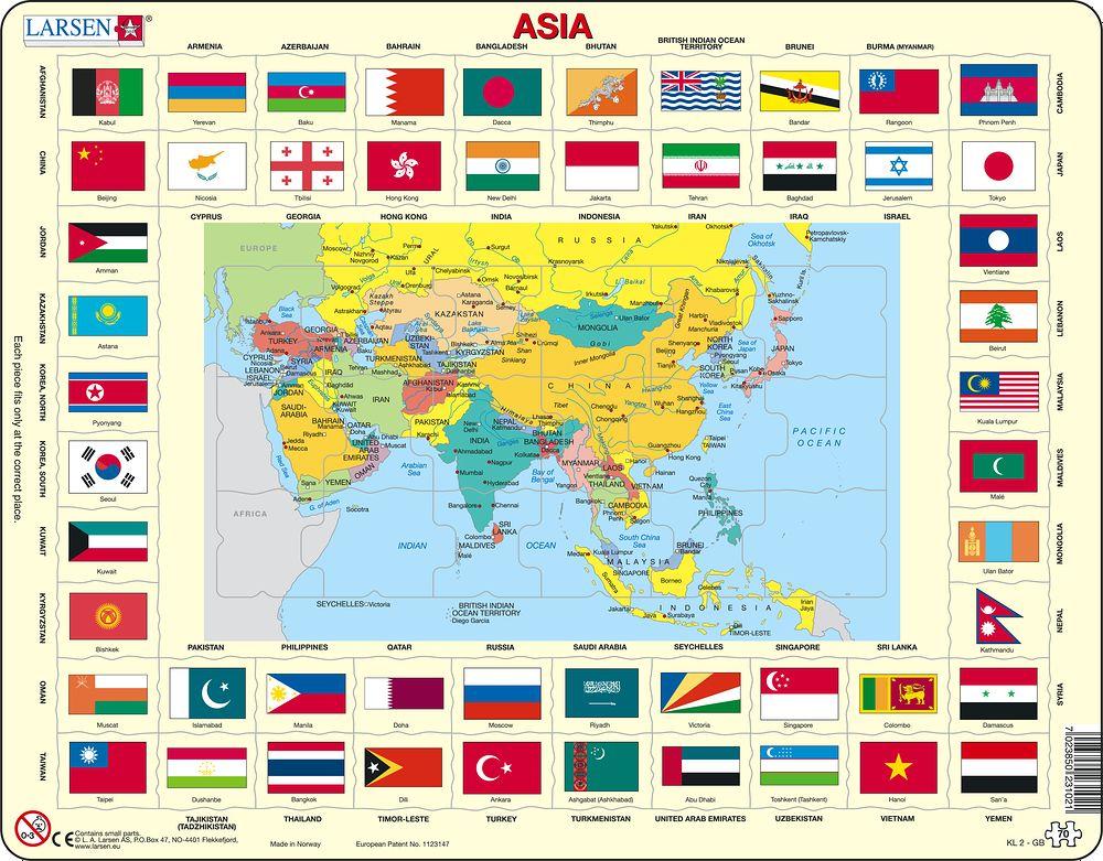 LA Larsen AS Puzzles – Asia Map Puzzle