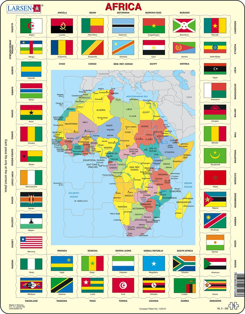 KL3 - Map/Flag - Africa (English)