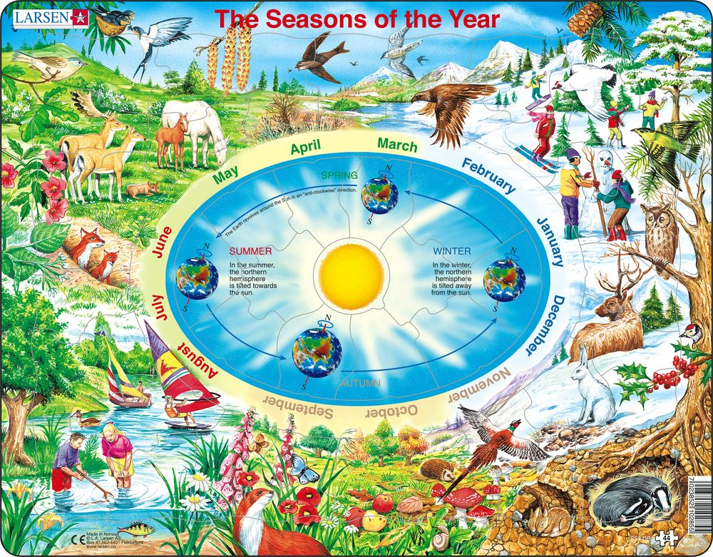 SS3 - De fire årstider :: Vitenskap og fakta :: Puslespill :: Larsen puslespill