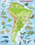 A25 - South America Topographic Map