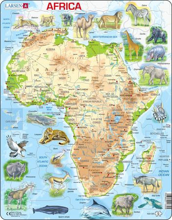 A22 - Africa Physical Map