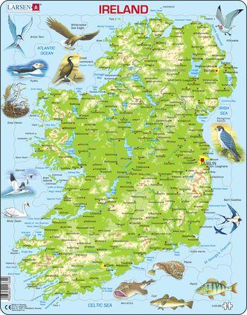 A23 - Irland topografisk kart med dyr