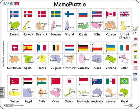 GP6 - MemoPuzzle: Flags and Capitals of 27 Countries