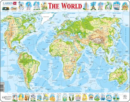 K4 - The World Physical Map