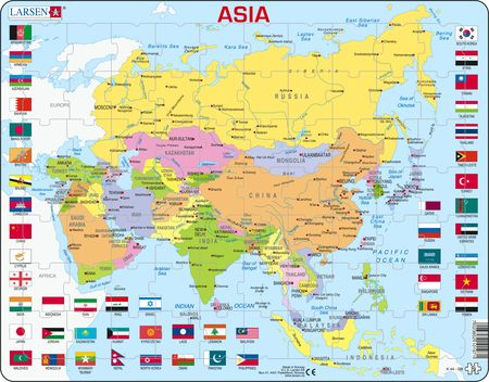 kart over land i asia Russian (1 24 of 40) :: Puzzles :: Larsen Puzzles kart over land i asia