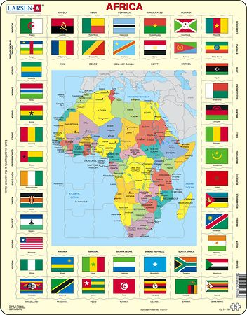 KL3 - Map/Flag - Africa