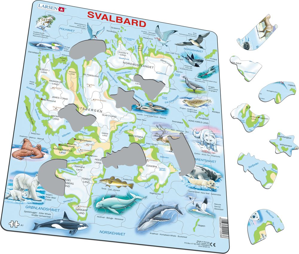 A1 - Svalbard Physical w/animals (Illustrative image 1)