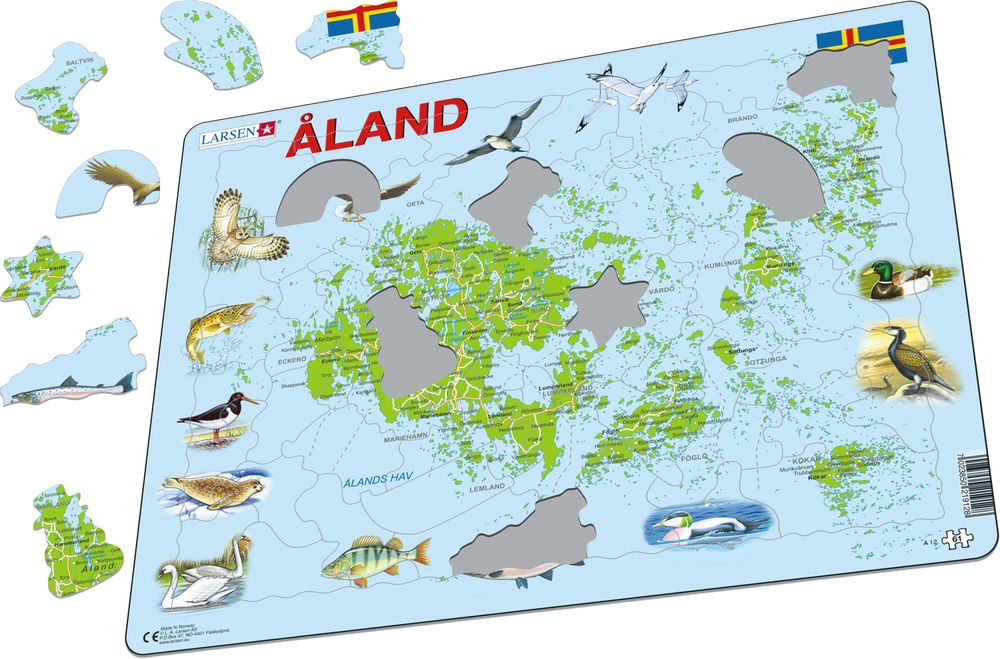 A12 - Åland Islands Physical with Animals (Illustrative image 1)