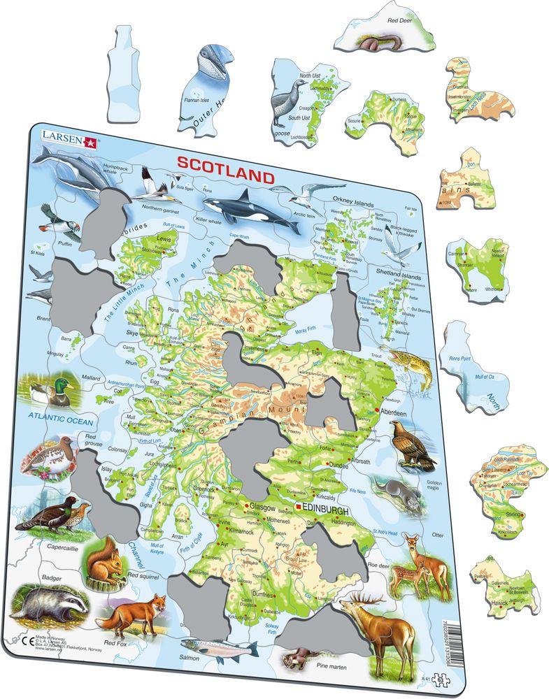 A41 - Skottland topografisk kart (Illustrasjonsbilde 1)