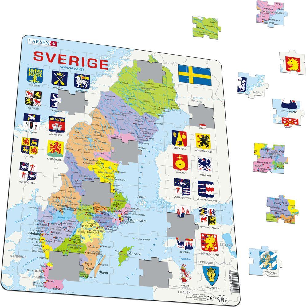 A7 - Sverige, politisk kart (Illustrasjonsbilde 1)