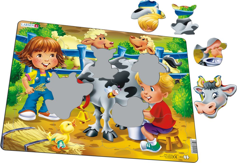 BM5 - Farm kids with cow (Illustrative image 1)