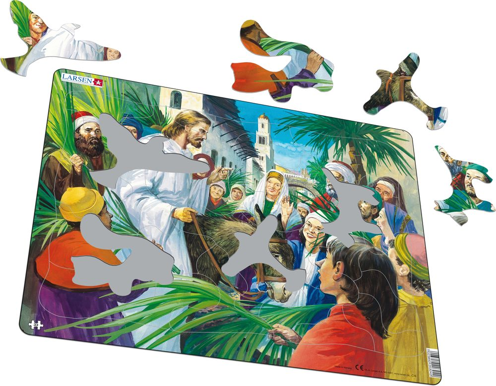 C6 - Jesus entering Jerusalem (Illustrative image 1)
