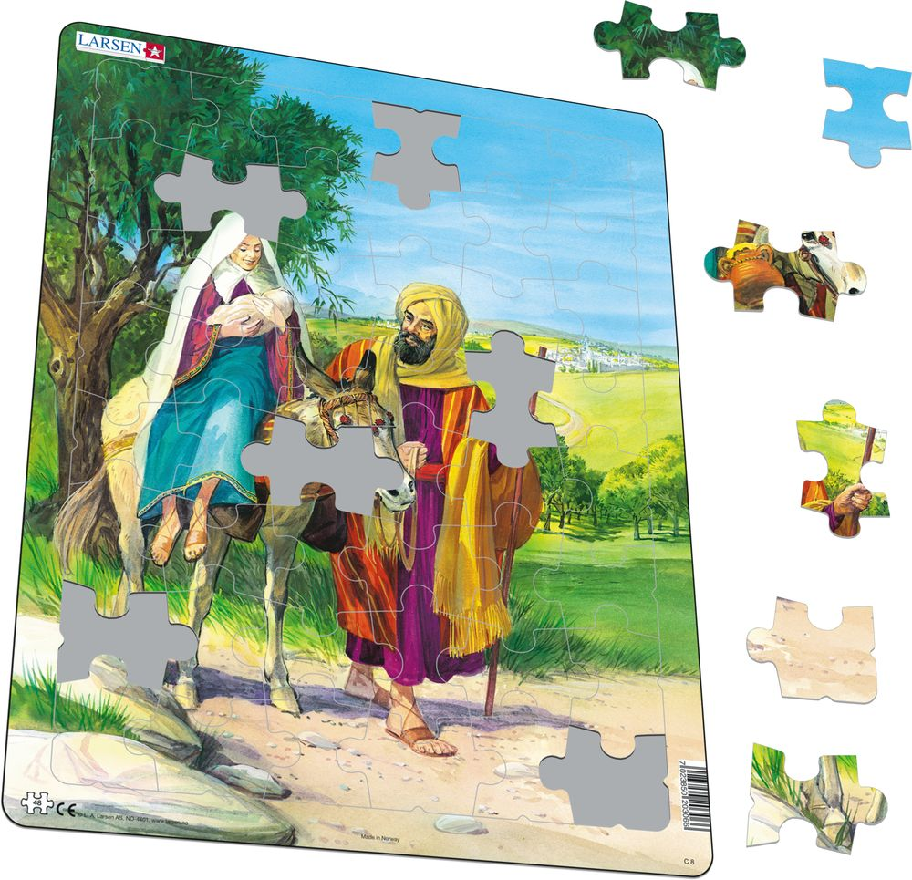 C8 - Mary, Joseph and Baby Jesus on their way to Egypt (Illustrative image 1)