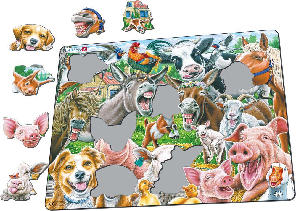 CZ1 - Selfie - lykkelige gårdsdyr (Illustrasjonsbilde 1)