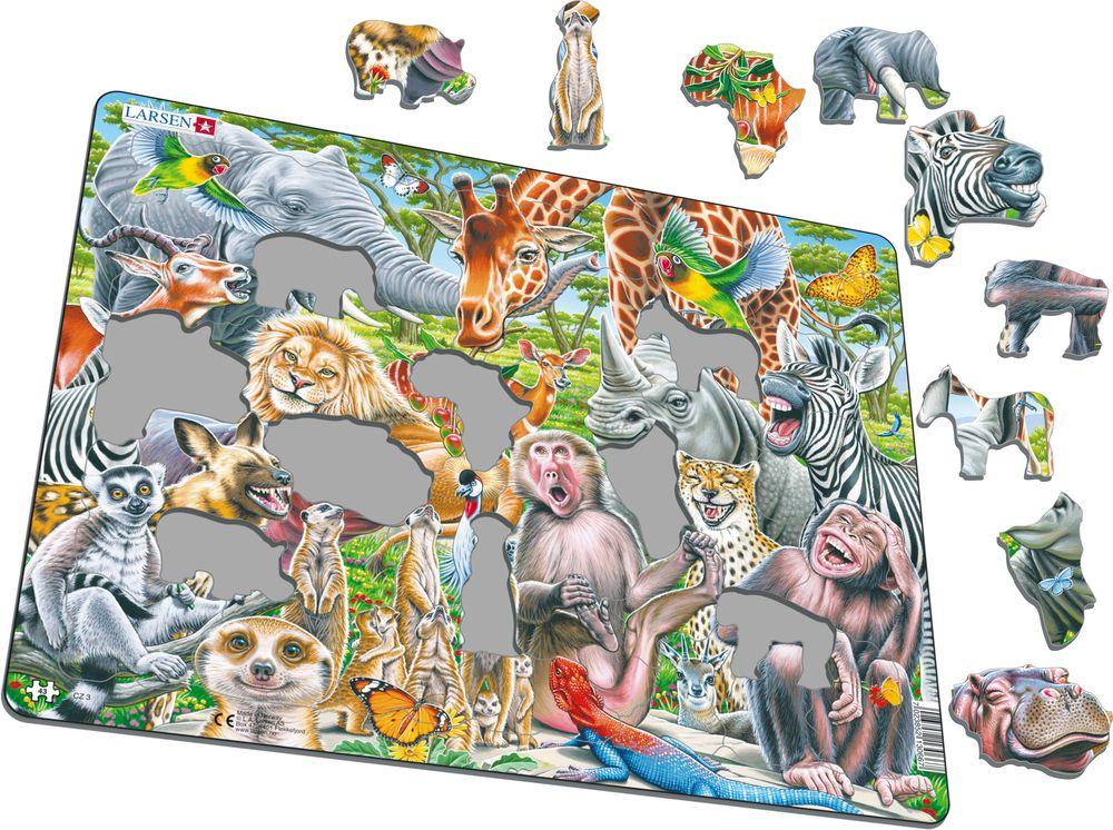 CZ3 - Selfie - lykkelige afrikanske dyr (Illustrasjonsbilde 1)