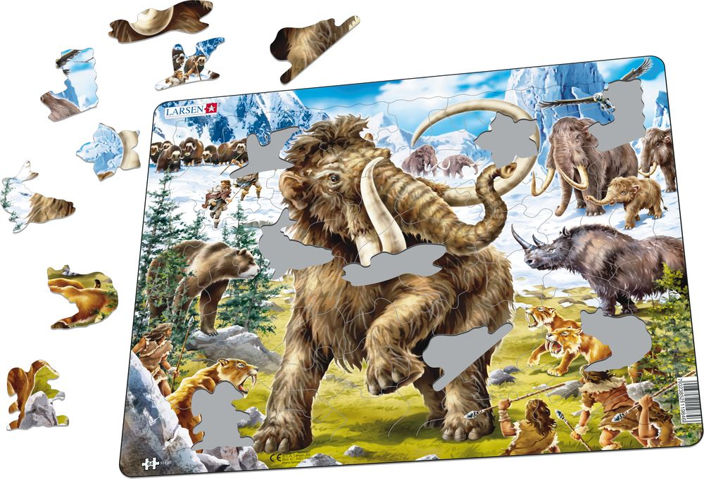 FH27 - Mammoths Being Hunted in Prehistoric Times (Illustrative image 1)