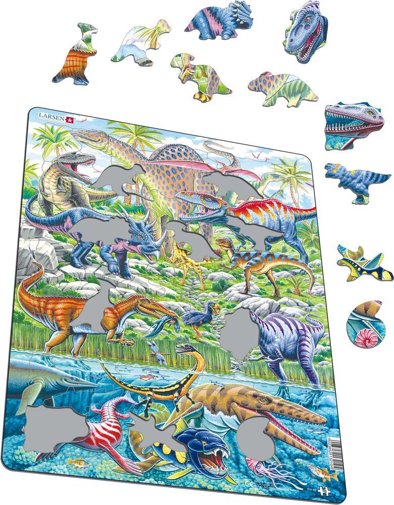 FH49 - Dinosaurer som flyr, løper og dykker (Illustrasjonsbilde 1)