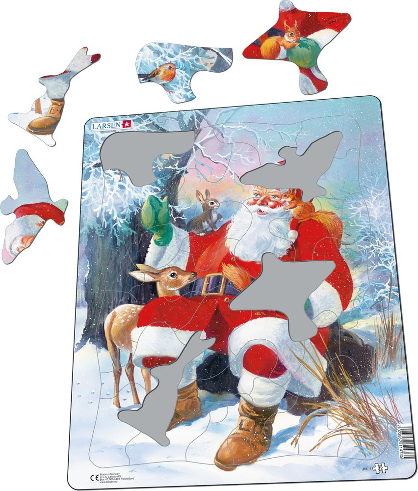 JUL7 - Santa With Animals (Illustrative image 1)