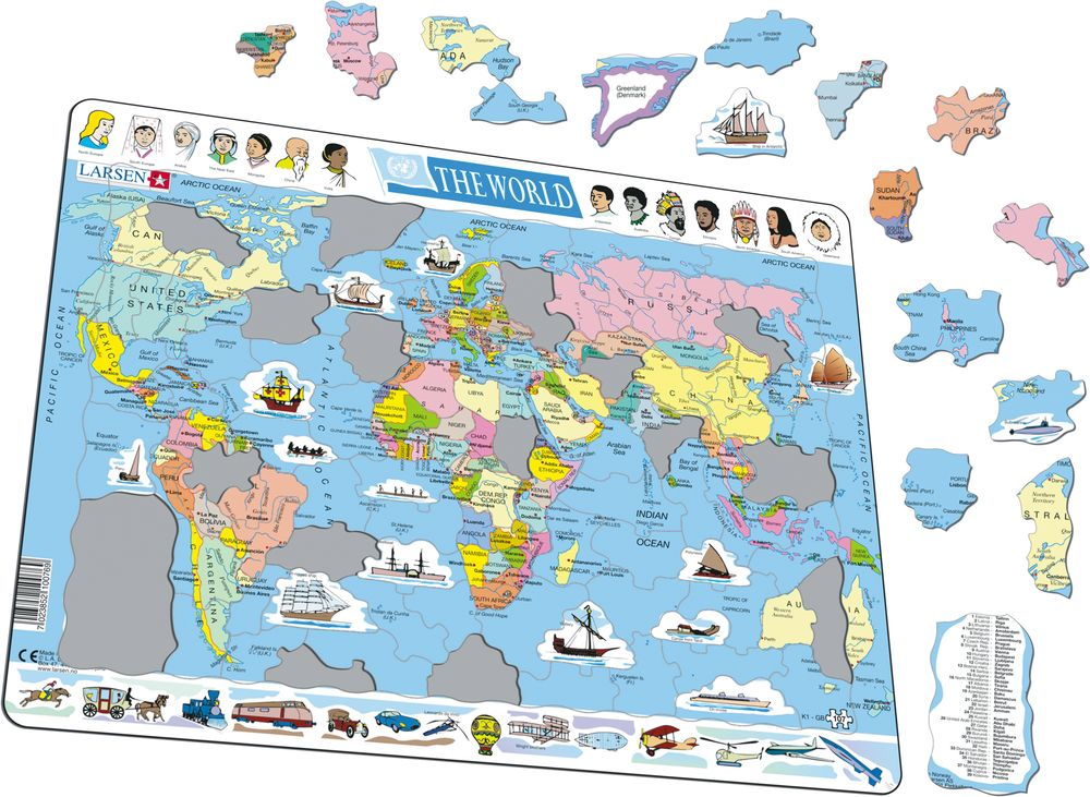 K1 - The World Political Map :: Maps of the world and ...