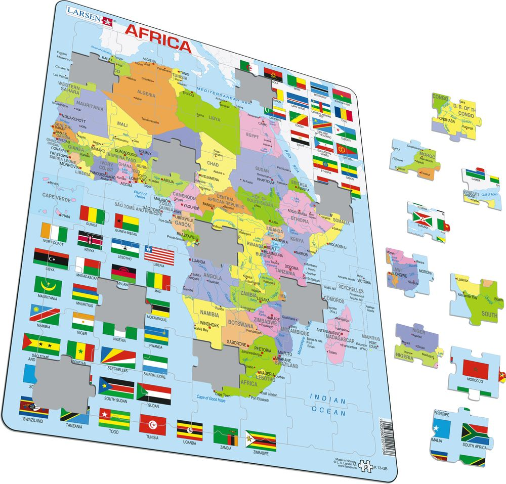 K13 - Africa Political Map (Illustrative image 1)