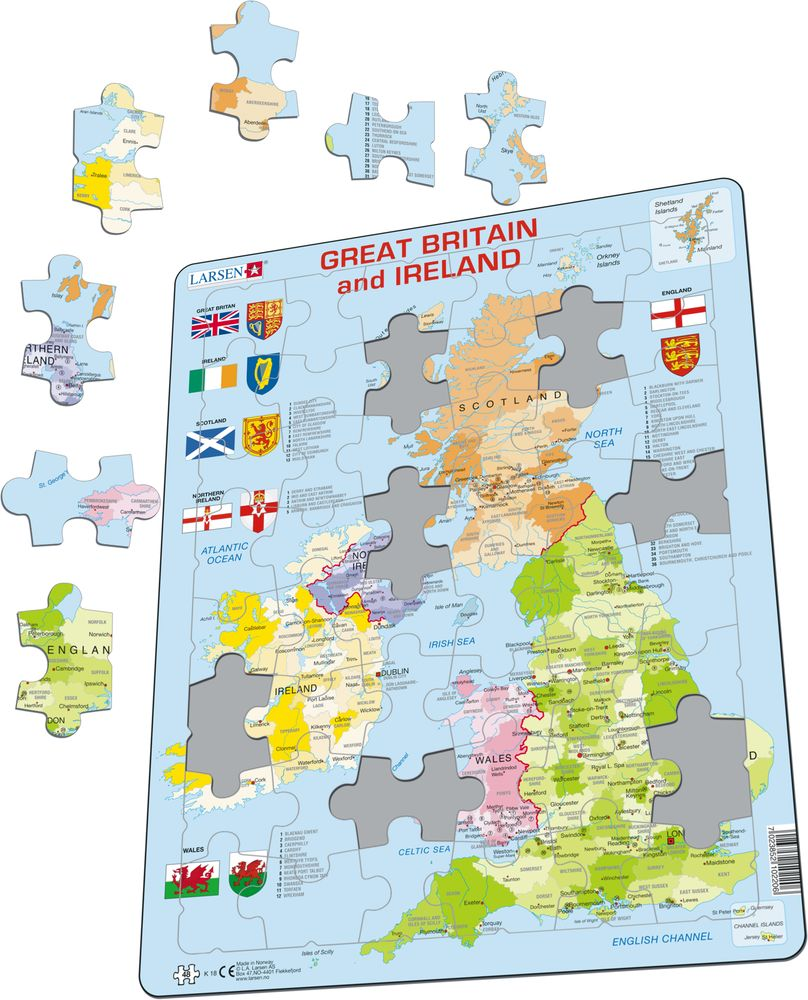 K18 - Great Britain and Ireland Political (Illustrative image 1)