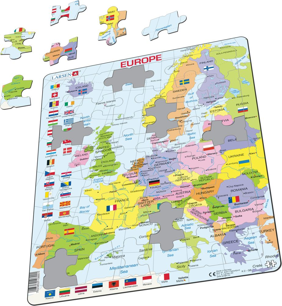 K2 - Europe Political Map :: Maps of the world and regions ...