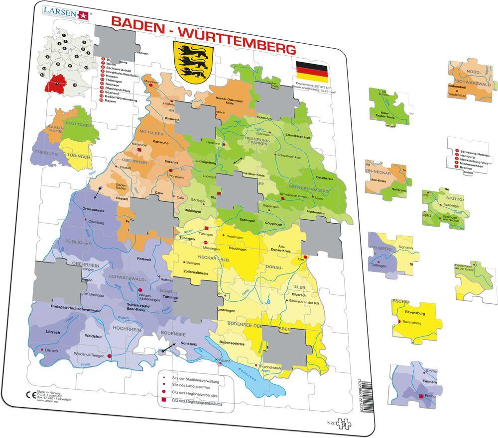 K22 Baden Wrttemberg Political Other maps Puzzles Larsen
