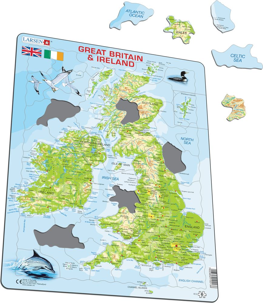 Map Of Ireland Lakes.K5 Great Britain And Ireland Maps Of Countries Puzzles