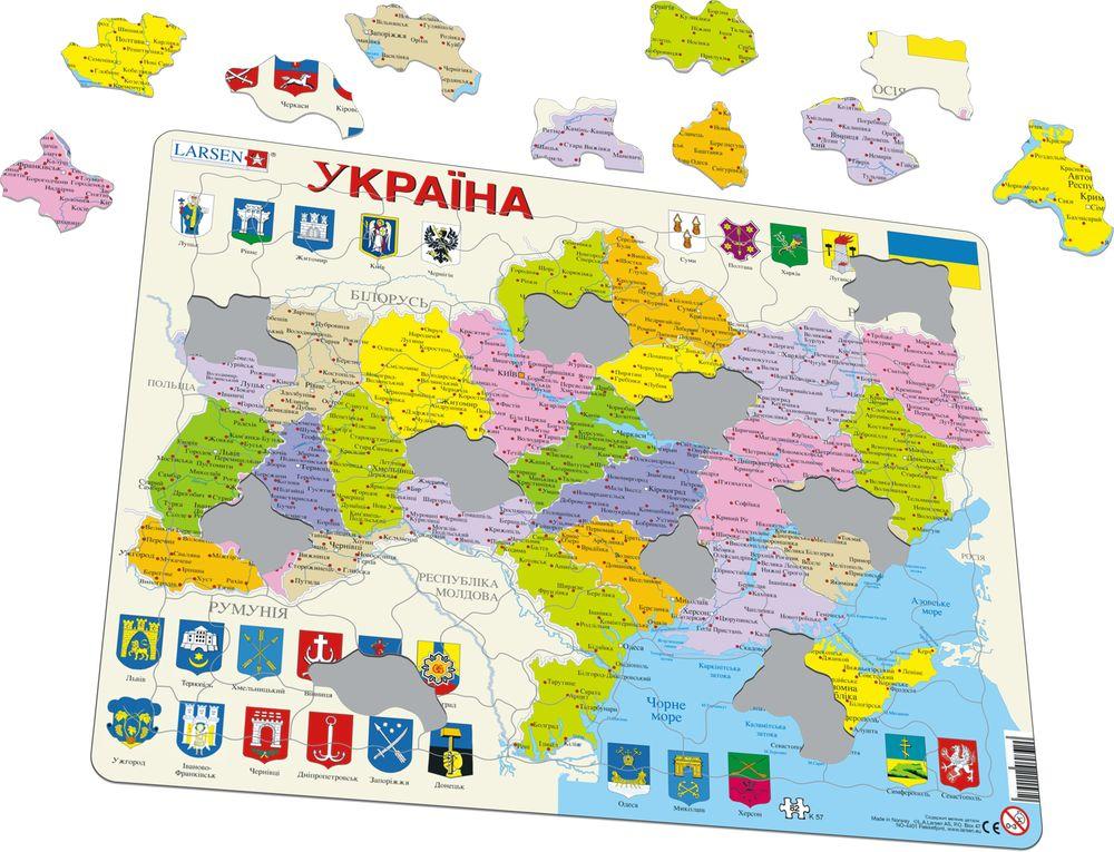 K Ukraine Political Maps Of Countries Puzzles Larsen - Ukraine political map