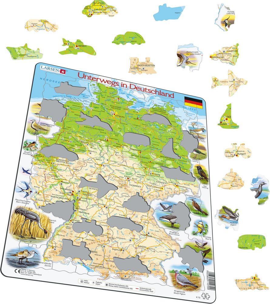 K72 Travelling In Germany Maps Of Countries Puzzles