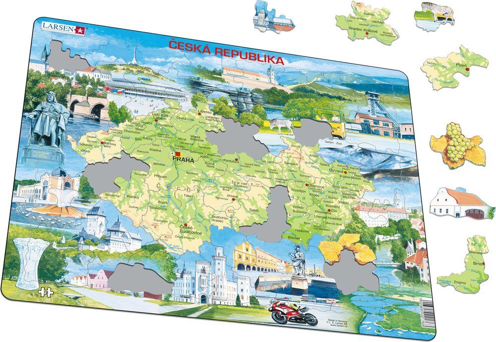 K76 - Tsjekkisk fysisk kart Souvenir (Illustrasjonsbilde 1)
