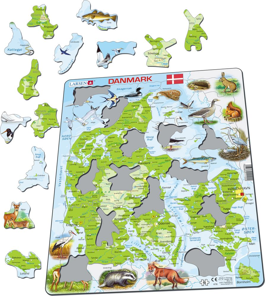 K78 - Denmark Physical Map (Illustrative image 1)