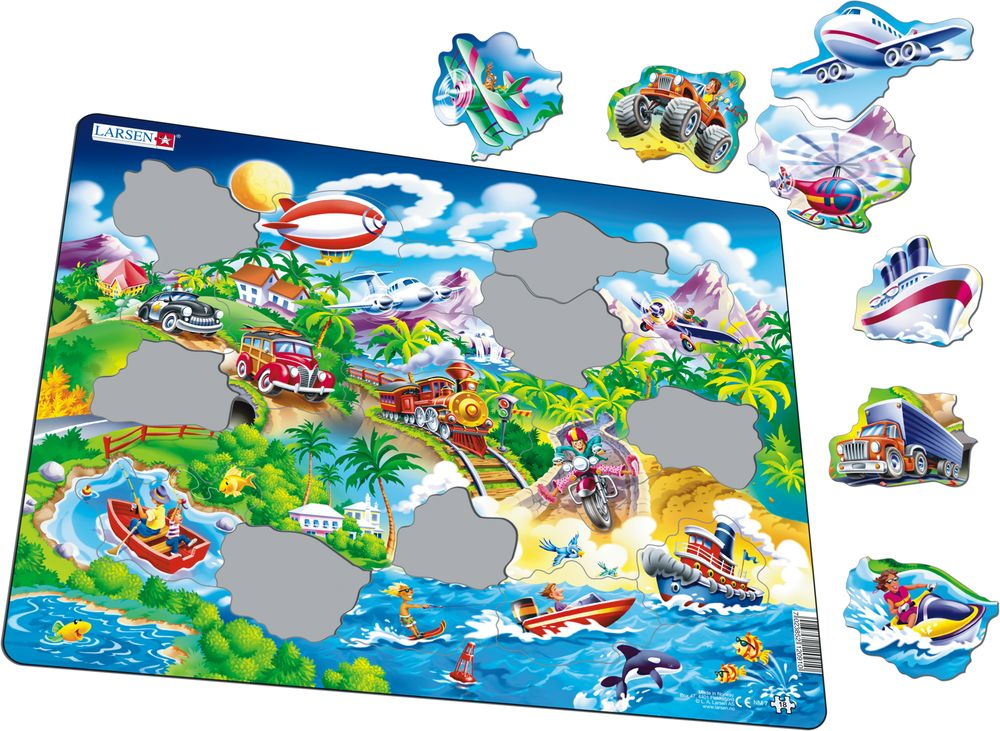 NM7 - Beginner Puzzle: Cars, Boats, Train and Aircrafts (Illustrative image 1)