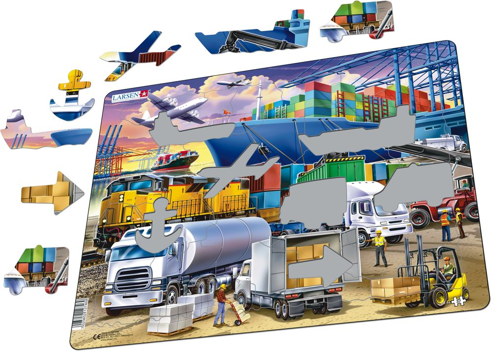 US44 - Busy Cargo Hub With Ships, Trucks, Trains and Planes (Illustrative image 1)