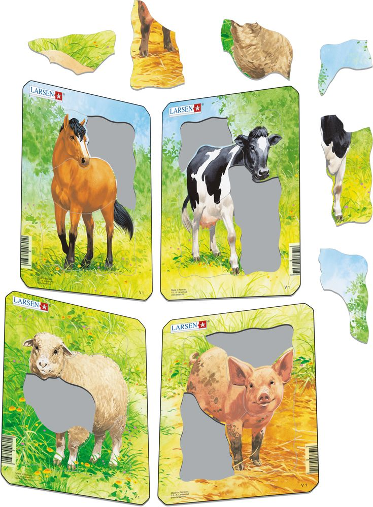 V1 - Animal Drawings. Horse, Cow, Sheep, Pig (Illustrative image 1)