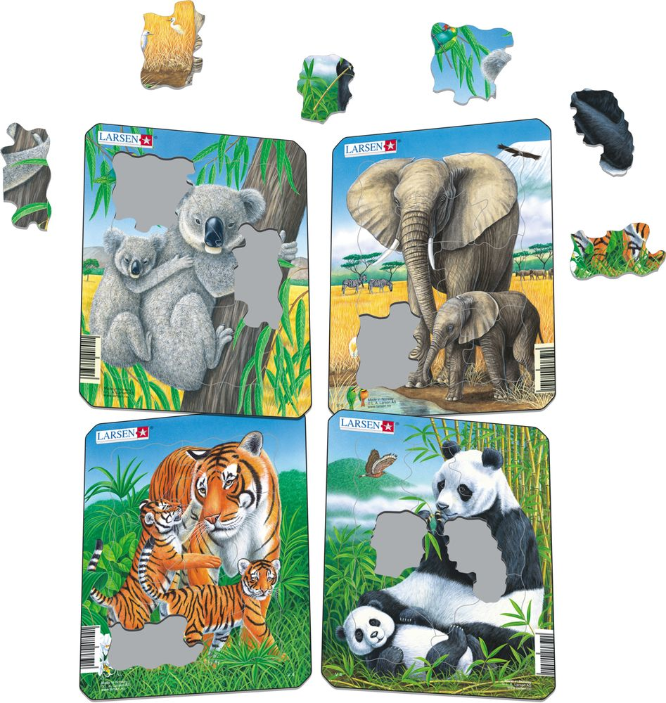 V4 - Koala, Elephant, Tiger, Panda (Illustrative image 1)