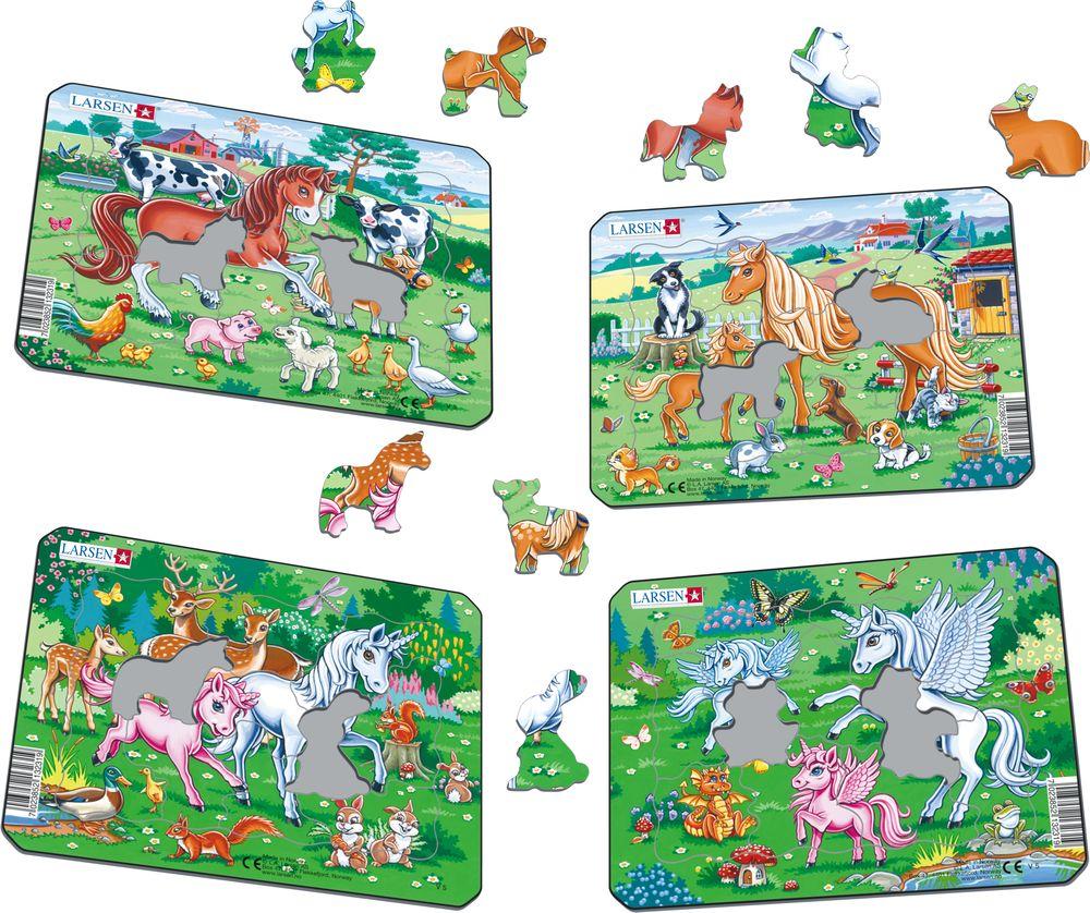 V5 - Ponnier og enhjørninger med venner (Illustrasjonsbilde 1)