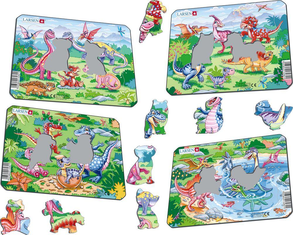 V6 - Lekne dinosaurer (Illustrasjonsbilde 1)