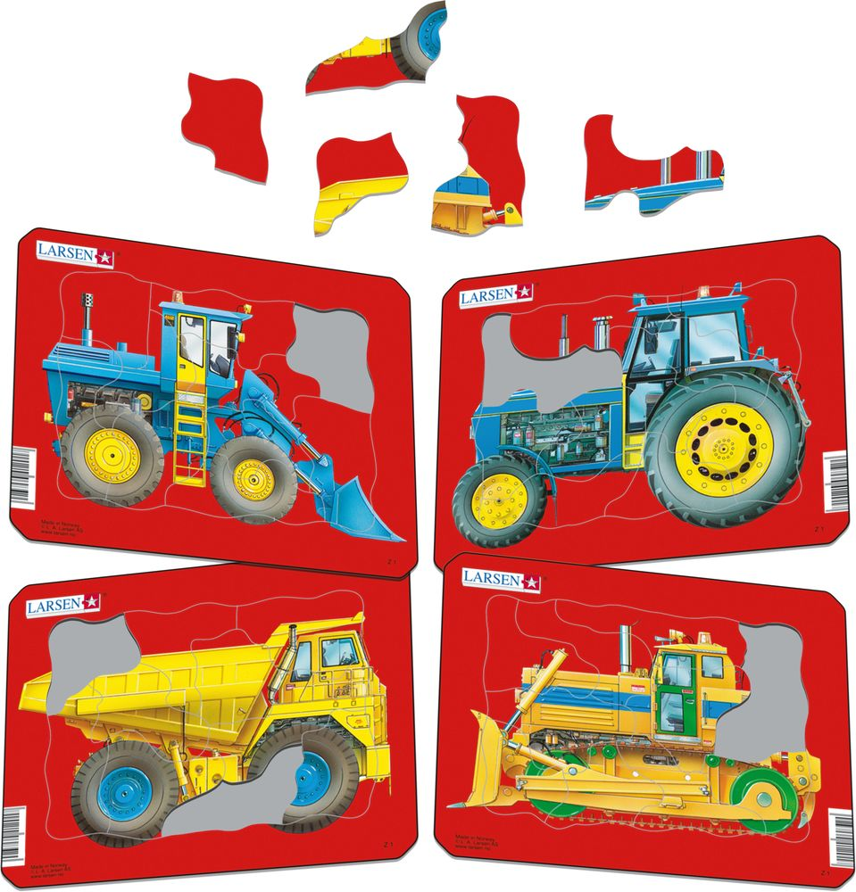 Z1 - Tractors, Dump Truck and Bulldozer (Illustrative image 1)